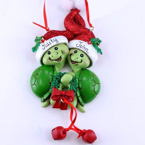(Turtle Couple Christmas Ornament by Kurt)