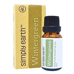 Wintergreen Essential Oil by Simply Earth - 15 ml, 100% Pure Therapeutic Grade