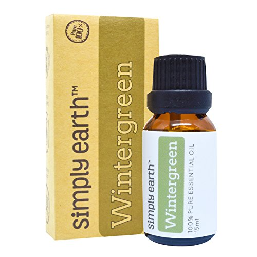 Wintergreen Essential Oil by Simply Earth - 15 ml, 100% Pure Therapeutic Grade - Minty Ginger Blend Alcohol