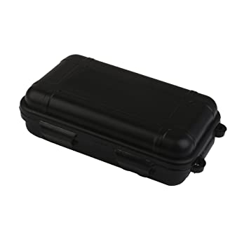 Outdoor Plastic Waterproof Airtight Survival Case Container Storage Carry  Box Small New   Black