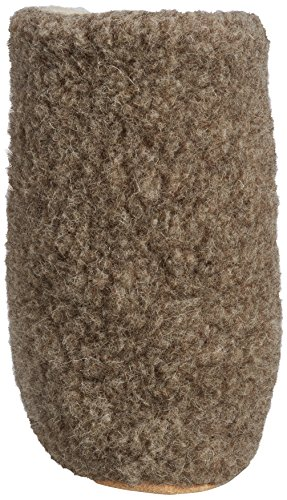Woolsies Yeti Natural Wool Slipper Booties, Unisex-Adult Hi-Top Slippers Brown (Latte Brown)