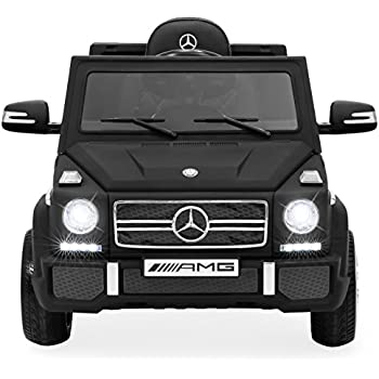 Best Choice Products 12V Kids Licensed Mercedes-Benz G65 SUV Ride-On Car w/ Parent Control, Lights, AUX - Matte Black