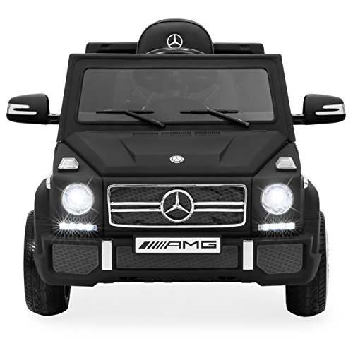 Best Choice Products 12V Licensed Mercedes-Benz G65 SUV Ride On Car w/ Parent Control, Speakers, AUX Jack - Matte Black