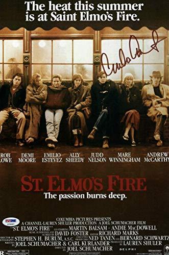 Emilio Estevez Autographed Signed St. Elmo's Fire 10x15 Movie Poster PSA COA P79557