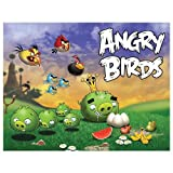 Mattel Angry Birds Puzzle Scene 2 Pigs Going After Eggs - 24 Piece