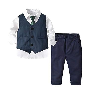 KIDsstz - Conjunto de Ropa para bebé, Camisa Blanca, Traje ...