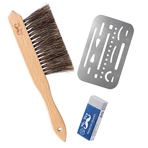 Mr. Pen- Drafting Brush, Eraser Shield, Eraser Artist, Dusting Brush, Desk Brush, Eraser Brush, Art Supplies, Drawing Tools for Drafting, Drafting Supplies, Drafting Dust Brush, Eraser Shield Drafting by Mr. Pen (Image #3)