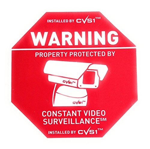 Home Security CCTV Camera Warning Stickers for Windows Doors 14 Pack