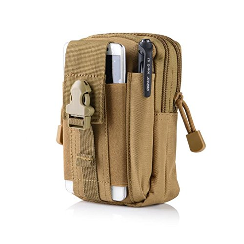 Foxtop Tactical Molle EDC Pouch Multipurpose Utility Gadget Belt Waist Bag with Cell Phone Holster Holder -