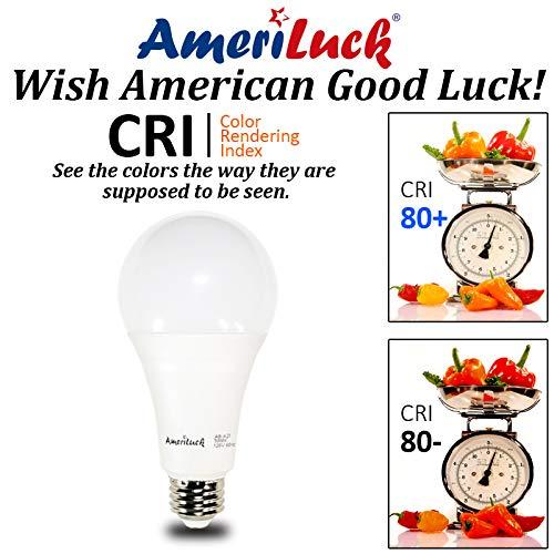 AmeriLuck 3-Way LED Light Bulb A21, 50-100-150W Equivalent (5000K   Daylight, 2 Pack)
