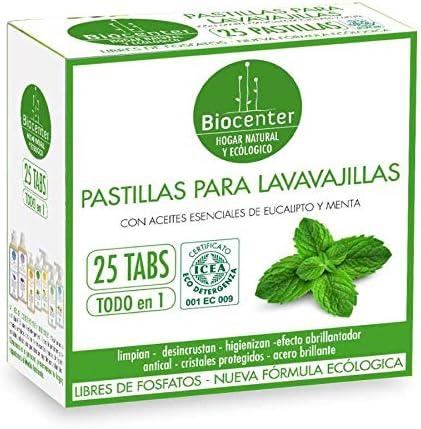 Eco pastillas para lavavajillas Biocenter 25 pastillas: Amazon.es ...