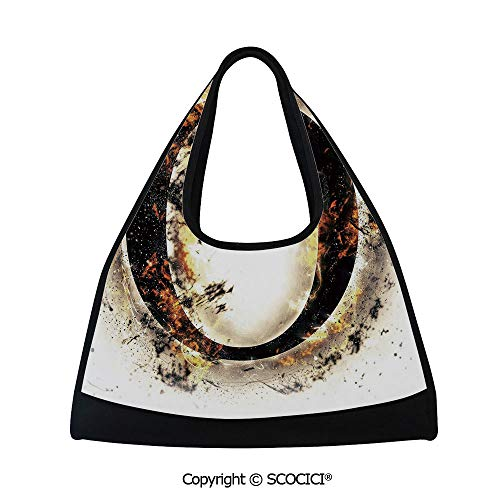 - Fitness bag,Alphabet on Fire Abstract Concept Hot and Fiery Letter O Plasma Smoky Look Decorative,Bag for Women and Men(18.5x6.7x20 in) Tan Black Orange