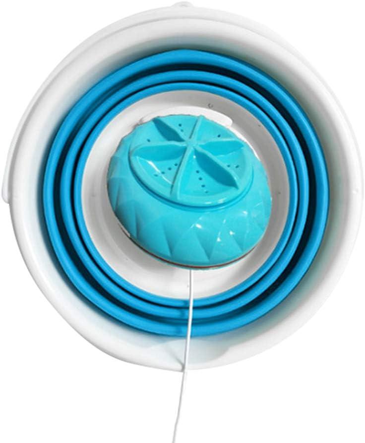 babysbreath17 Mini portátil Plegable Cubo Lavadora hogar de Ropa del Recorrido de Sonic Turbina USB del ABS Limpiador de lavandería