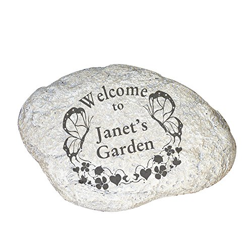 GiftsForYouNow Butterfly Welcome Personalized Garden Stone, 11