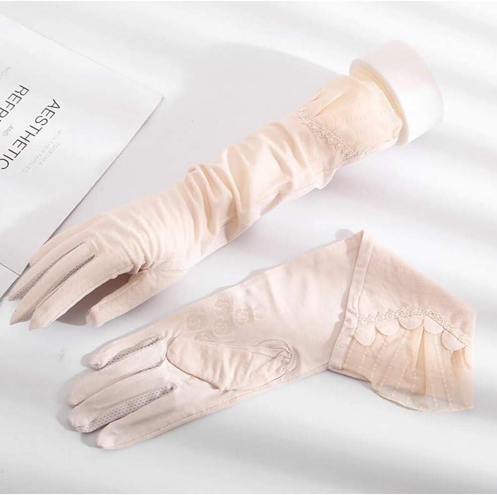 Compra Huasho Guantes Largos de algodón de Primavera y Verano para ...