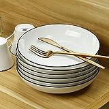 AnBnCn Porcelain Pasta/Salad Bowls - 22 Ounce - Set