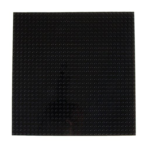 Strictly Briks Classic Baseplates 10 x 10 Stackable Brick Base Plate 100% Compatible with All Major Brands   Baseplate for Building Towers, Tables & More   1 Black Baseplate