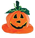 Plush Jack-o-lantern Hat Pkg/6