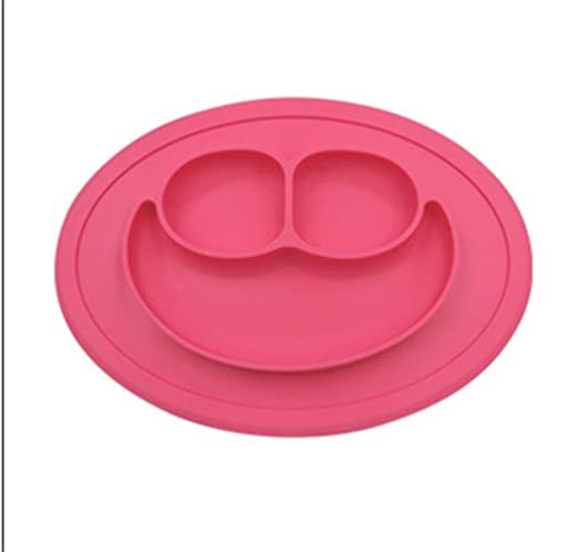 HUDNNFO Ronda 2pcs Smiley de Silicona for bebés Placas portátiles ...