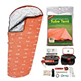 S.O.L. Survive Outdoors Longer Escape Bivvy (Orange) & Origin Survival Tool + Tube Tent Emergency Kit