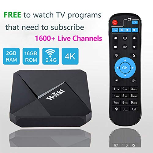 (2019 World IPTV Box Receiver Player with Lifetime Subscription Prepaid for Over 1600+ Global Live Channels Arabic Brazil Indian German US European Chinese Japanese Korean)