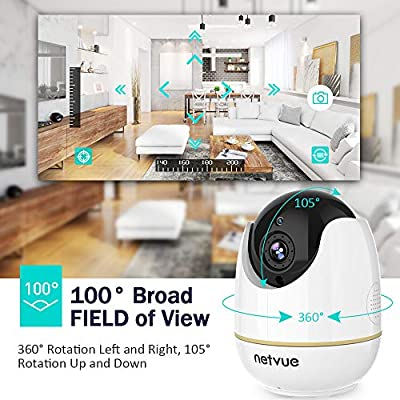 Pet Camera - 1080P Dog Monitor with Two Way Audio, AI Human Detection, Cloud Storage 24-Seconds Smart Clips, Night Vision, Compatible with Alexa, Doggie Camera with Audio and APP, Camera for Pets/Baby