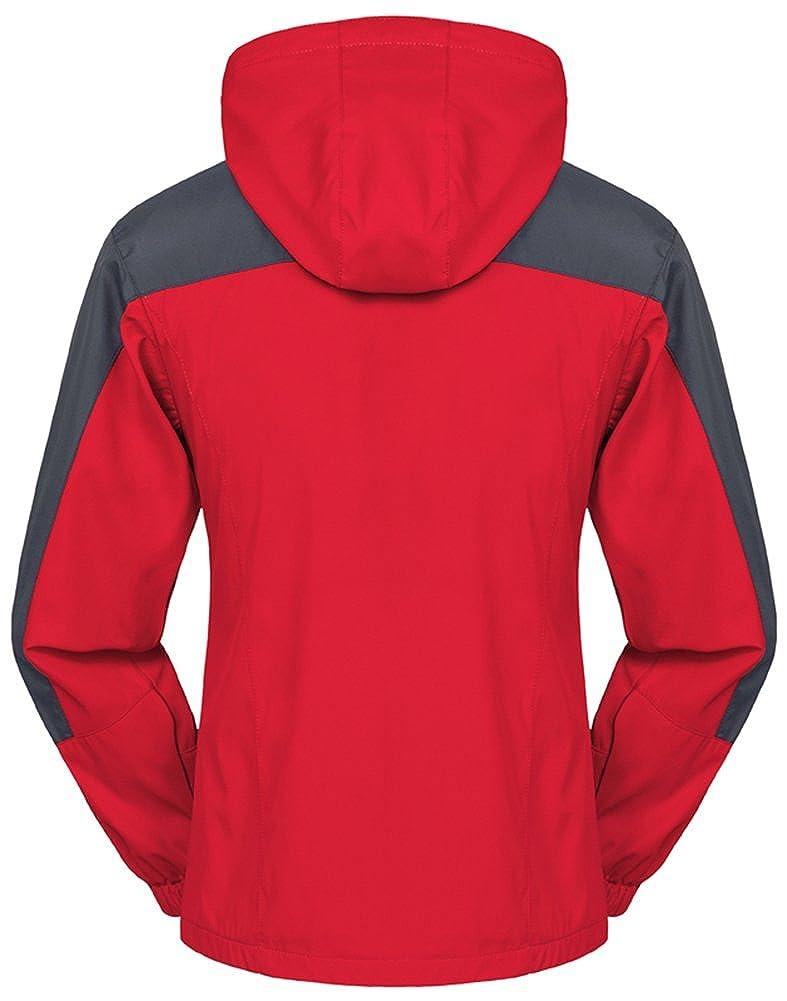 Mochoose Donna Outdoor Mountain Impermeabile Windbreaker Softshell Giacche con Cappuccio Sci Sportwear Rain Coat Campeggio Pesca Caccia Working Jacket