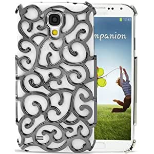 Electroplate Hollow Process Plastic Protective Case for Samsung Galaxy S IV / i9500 (Dark Grey)