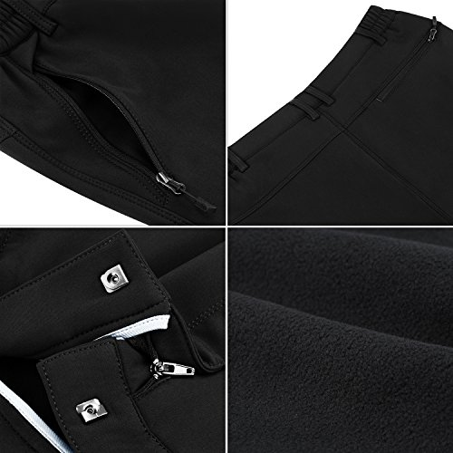 Waterproof Snow Pants for Women, Gonex Winter Outdoor Fleece Lined Softshell Cargo Hiking Snow Pants