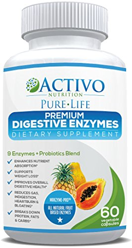 Premium Digestive Enzymes for Constipation & Digestion Health - With Probiotics & Makzyme Pro™ Blend to Relieve Gas & Bloating for Men and Women - Veggie Capsules for Maximum Absorption