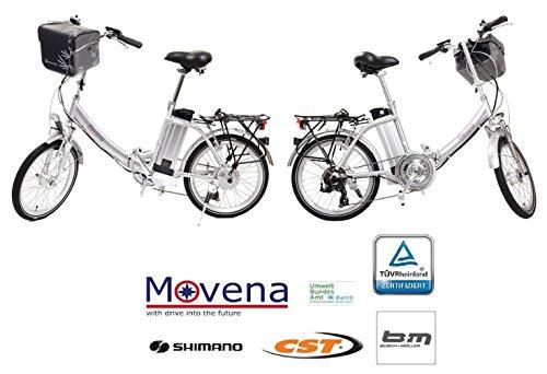 2 x Certificado TÜV y bicicleta eléctrica - 36 V 15 Ah Batería, 20 pulgadas Pedelec de bicicleta plegable, color plata 36 V 15 Ah Batería & # x2714; ...