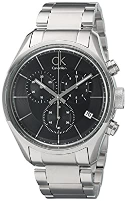 Calvin Klein Men's 'Masculine' Swiss Quartz Stainless Steel Automatic Watch, Color:Silver-Toned (Model: K2H27104)