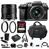 Panasonic Lumix G7 Mirrorless Digital Camera w/ 42mm & 42.5mm f/1.7 Lenses & ...