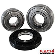 "Nachi High Quality Front Load LG Washer Tub Bearing and Seal Kit Fits Tub 4036ER2003A (5 year replacement warranty and full HD ""How To"" video included) by Front Load Bearings"