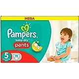Pampers Baby-Dry Pants Pañales para Bebés, Talla 5 (12-18 kg) - 72 pañales
