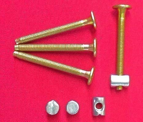 10 nuts Furniture Cot Bed Bolt Allen Head Barrel Nut 6mm M6 X 60mm 10 bolts