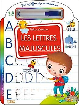 Télécharger J'écris, j'efface et je recommence: Les lettres majuscules - Dès 4 ans pdf gratuits