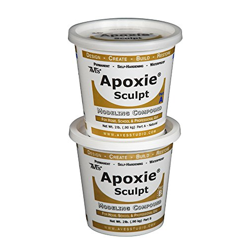 Apoxie Sculpt 4 lb. Natural, 2 part modeling compound (A & B)