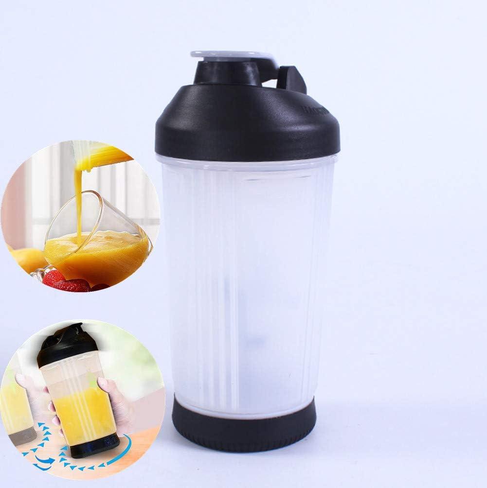 VANUODA Exprimidor manual portátil, taza de mezcla, divertido vaso de zumo de mano, sin tapón, engranaje a prueba de ...