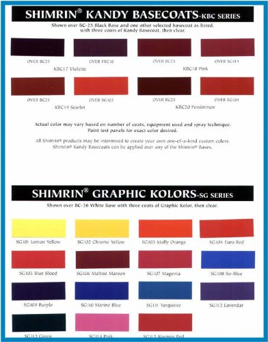 House Of Kolor Kbc04 Qt Oriental Blue Kandy Bc Shimrin Kandy Basecoat