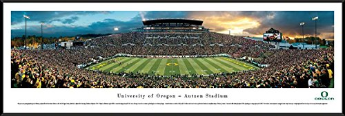 Oregon Football - Blakeway Panoramas College Sports Posters with Standard Frame