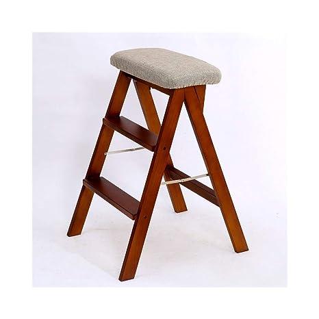 LJFYMX Step stool Escalera Pesada Plegable Taburete Plegable ...