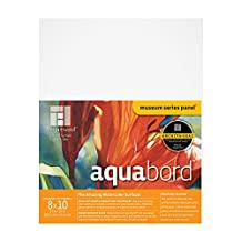 Ampersand Aquabord, for Watercolors, Gouache and Acrylics, 7/8 Inch 8X10