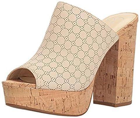 Jessica Simpson Women's Giavanna Heeled Sandal, Vanilla Cream, 6.5 Medium US - Cork Platform Sandals