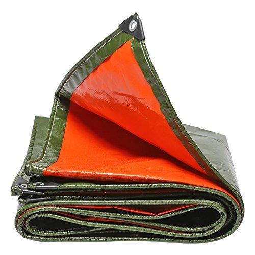 Bâche Imperméable Robuste Tente Bâche De De Camping Tapis De Bâche Parasol Sol Tapis Abri Bâche La Ran ée en Plein Air-polyéthylène (PE) -260g / M², Épaisseur 0,8 MM, Bleu + Orange (Taille : 3mx4m) 5c7e2b
