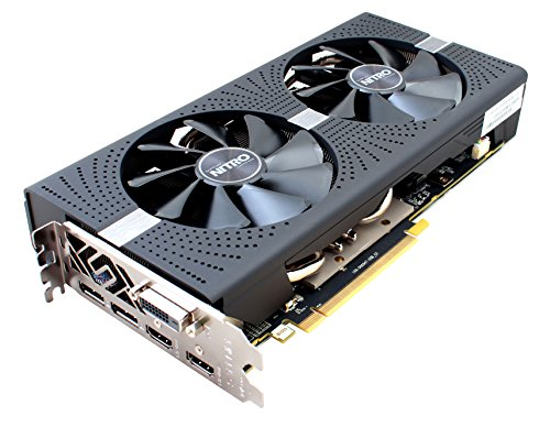 Sapphire 11265-07-20G Radeon NITRO+ RX 580 4GB GDDR5 DUAL HDMI/DVI-D/DUAL DP with backplate (UEFI) PCI-E Graphics Card