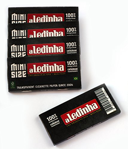 Ledinha MINI size clear Cellulose rolling paper from Brazil - 250 papers ()