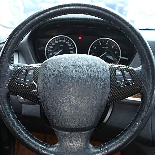 HJPOQZ Volante in Fibra di Carbonio Stile ABS Cromato Decorazione Cornice Trim Accessori 2 Pezzi , per Alfa Romeo Giulia Stelvio 2016 2017 2018