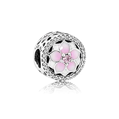 8a04185b0 Image Unavailable. Image not available for. Color: Pandora Women's Magnolia  Bloom Openwork Charm ...