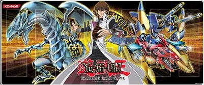 YuGiOh Card Supplies Gold Play Mat #2 [Blue Eyes White Dragon, Kaiba & XYZ Dragon Cannon]